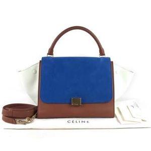 SALE NOW!  Celine Tri-coloured trapeze bag